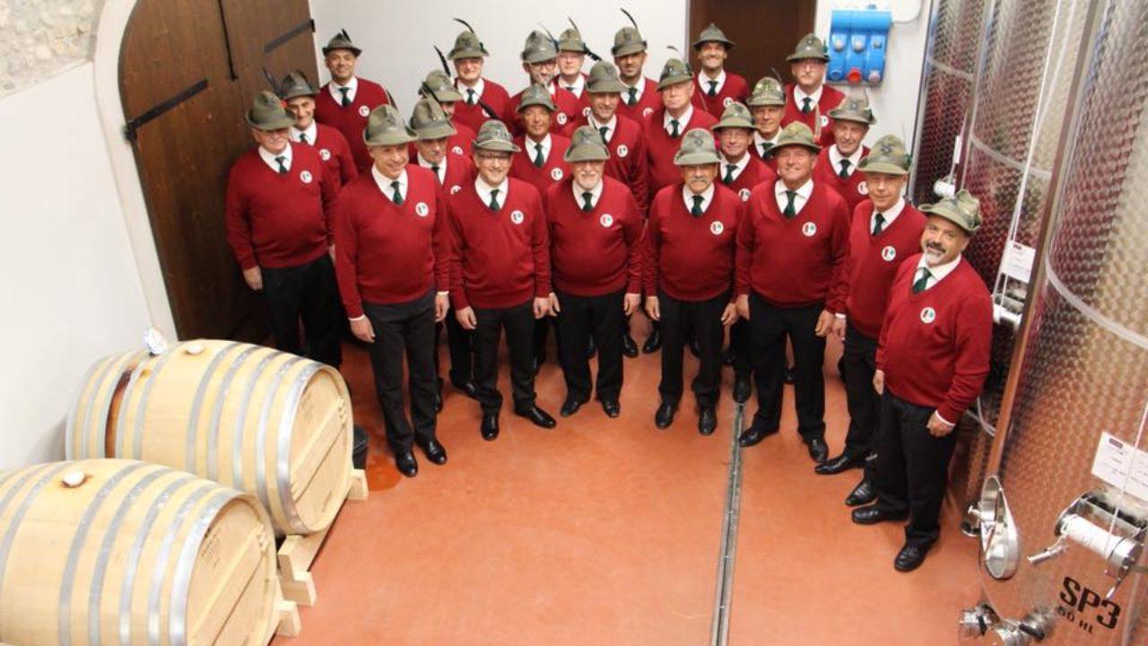 coro ANA Oderzo in cantina